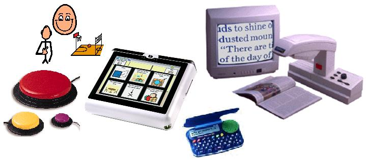 Image of small collect of assistive technologies